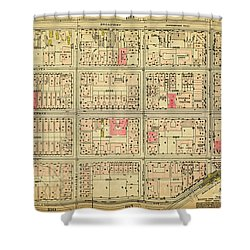 1927 Inwood Map  Shower Curtain