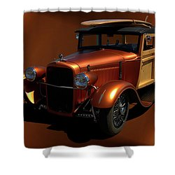 1929 Ford Model A Woody Shower Curtain by Tim McCullough