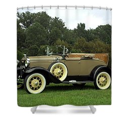 1931 Ford Model A Roadster Shower Curtain by Tim McCullough
