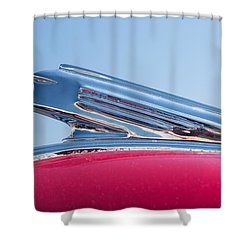 1939 Pontiac Hood Ornament Shower Curtain