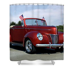 1940 Ford Convertible Shower Curtain