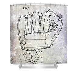 1943 Baseball Glove Patent Shower Curtain