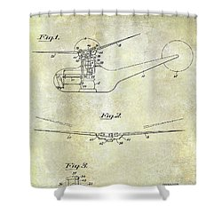 1947 Helicopter Patent Shower Curtain