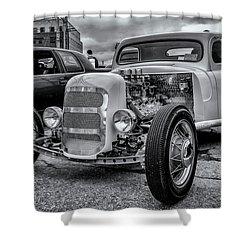 1948 Mercury Pickup Hot Rod Shower Curtain by Ken Morris