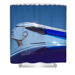 1948 Pontiac Hood Ornament Shower Curtain
