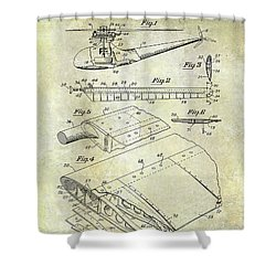 1949 Helicopter Patent Shower Curtain