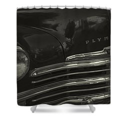 1949 Plymouth Deluxe  Shower Curtain by Cathy Anderson