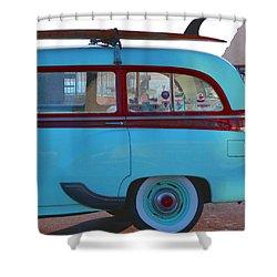 1954 Pontiac Chieftain Station Wagon Shower Curtain by Bill Owen