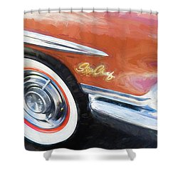 Shower Curtain featuring the photograph 1958 Pontiac Star Chief  by Rich Franco