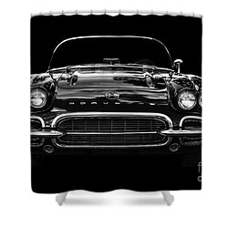 1961 Corvette Shower Curtain