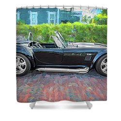 1965 Ford Ac Cobra Painted    Shower Curtain