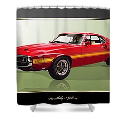 1969 Shelby V8 Gt350  Shower Curtain