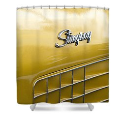 1972 Chevrolet Corvette Stingray Emblem Shower Curtain by Jill Reger