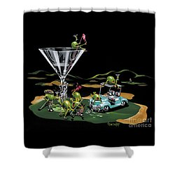 19th Hole Shower Curtain by Michael Godard