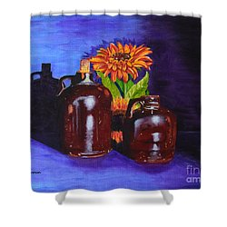 2 Old Jugs Shower Curtain
