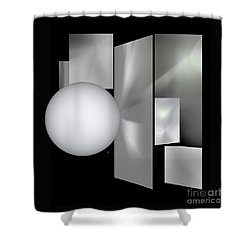 Shower Curtain featuring the digital art 1-2017 by John Krakora