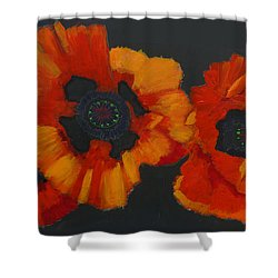 3 Poppies Shower Curtain