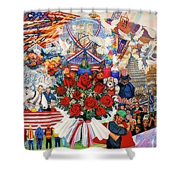 9/11 Memorial Shower Curtain