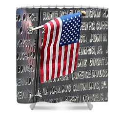 9 11 Memorial Rocky Point New York Shower Curtain by Bob Savage