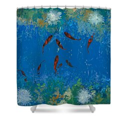 9 Pesciolini Rossi Shower Curtain