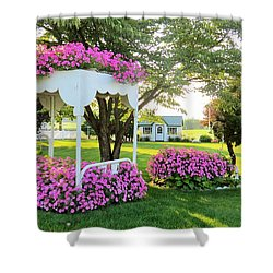 A Bed Of Flowers Shower Curtain by Jeanette Oberholtzer