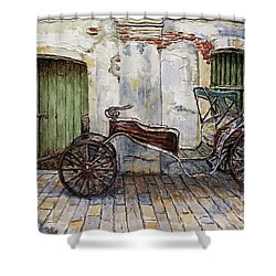 A Carriage On Crisologo Street 2 Shower Curtain