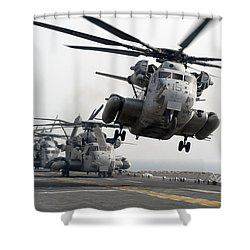 A Ch-53e Super Stallion Lifts Shower Curtain by Stocktrek Images