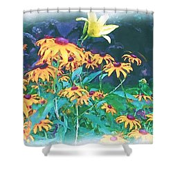 Shower Curtain featuring the painting A Lily In The Field by Patricia Griffin Brett