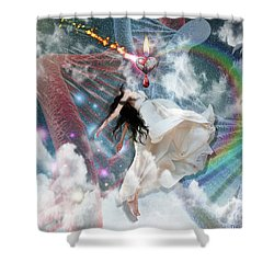 A New Heart Shower Curtain by Dolores Develde