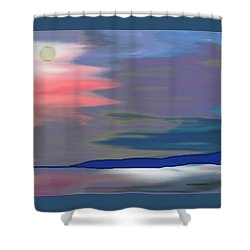 A Quiet Evening Shower Curtain by Lenore Senior