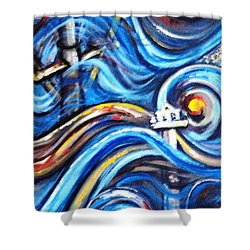 Shower Curtain featuring the painting A Ray Of Hope 4 by Harsh Malik