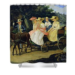 A Run Shower Curtain by Aleksandr Pavlovich Bryullov
