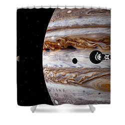 A Sense Of Scale Shower Curtain by David Robinson