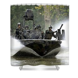 Shower Curtain featuring the photograph A Special Operations Craft Riverine by Stocktrek Images