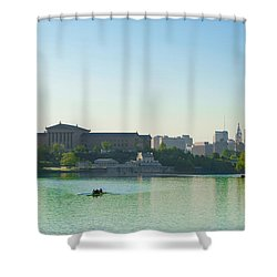 Shower Curtain featuring the photograph A Spring Morning In Philadelphia by Bill Cannon