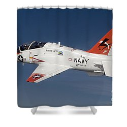 A T-45c Goshawk Training Aircraft Shower Curtain by Stocktrek Images