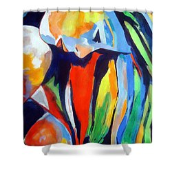 A Voice With No Words Shower Curtain