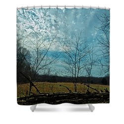 A Walk In A Field Shower Curtain