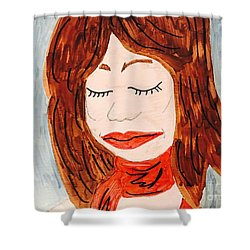 A Young Woman  Shower Curtain
