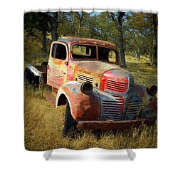 Abandoned Dodge Truck Shower Curtain