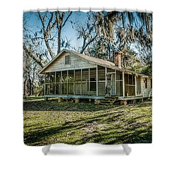 Abandoned House Old Cahawba Shower Curtain by Phillip Burrow