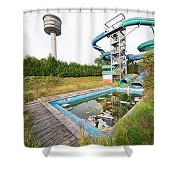 abandoned swimming pool - Urban exploration Shower Curtain by Dirk Ercken