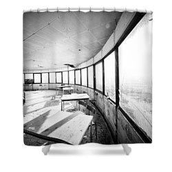 Abandoned Tower Restaurant - Urban Exploration Shower Curtain by Dirk Ercken