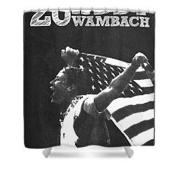 Abby Wambach Shower Curtain by Semih Yurdabak