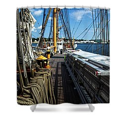 Shower Curtain featuring the photograph Aboard The Eagle by Karol Livote