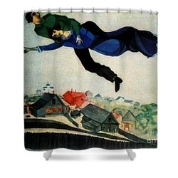 Above The Town Shower Curtain