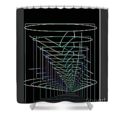 Abstract 13 Shower Curtain by John Krakora