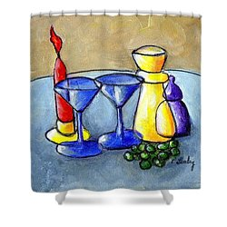 Grapes N Candles Shower Curtain