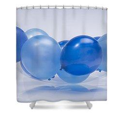 Abstract Balloon Shower Curtain by Setsiri Silapasuwanchai