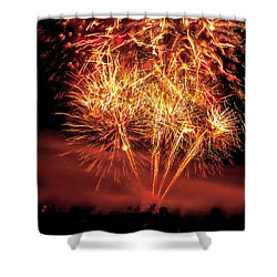 Shower Curtain featuring the photograph Abstract Fireworks by Robert Bales